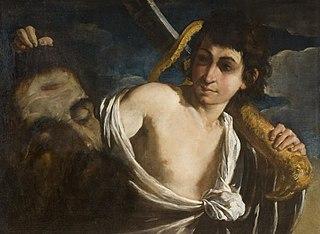 David mit dem Haupt Goliaths