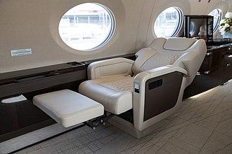Recliner - Recliner aboard a business jet