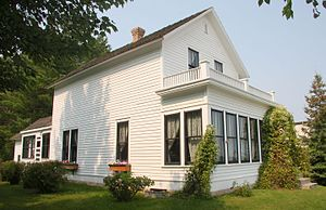 Judy Garland - Garland's birthplace (now a museum) in Grand Rapids, Minnesota
