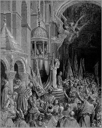 Fourth Crusade - Dandolo Preaching the Crusade by Gustave Doré
