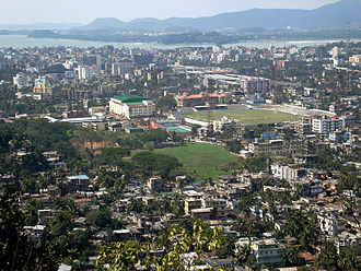 Lower Assam - Aerial View of Guwahati