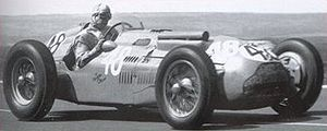 Guy Mairesse - Mairesse at 1951 French Grand Prix in Talbot-Lago T26C