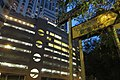 HK 灣仔 Wan Chai 堅尼地道 Kennedy Road Bamboo Grove indoor carpark facade evening 賢華街 Yen Wah Steps name sign Nov 2017 IX1.jpg