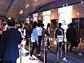 HK Sheung Wan Wing Lok Street Cosco Tower lobby hall interior morning peak hours 7-Nov-2012.JPG