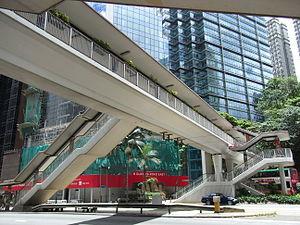 HK Wan Chai 金鐘道 Queensway skyway 3 Pacific Place July-2012.JPG