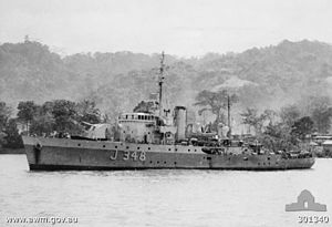 HMAS Stawell during 1944