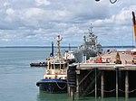 HMAS Tobruk Departs Fort Hill Wharf January 2012 (6741785571).jpg