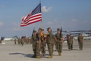Casing of the Colors - Marine Light Attack Helicopter Squadron 467 casing colors in June 2016