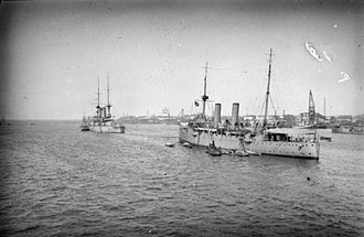 William Boyle, 12th Earl of Cork and Orrery - The light cruiser HMS ''Fox'' which Boyle commanded in the Red Sea during the First World War