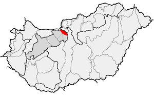 Pilis Mountains - Location of Pilis Mountains within physical subdivisions of Hungary