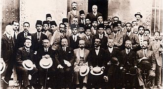 Tunisian Baccalaureate - Habib Bourguiba, 1st President of Tunisia, and his classmates in his Baccalaureate Year in 1924 in Sadiki College, Tunis