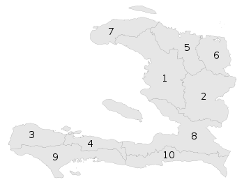 Haiti with departments borders (numbered).svg
