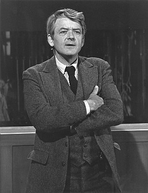 Our Town - Hal Holbrook as the Stage Manager in the 1977 television adaptation.