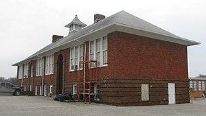 Hall, Indiana - Hall's old school