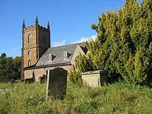Hanbury, Worcestershire - Image: Hanbury Church geograph.org.uk 1557207