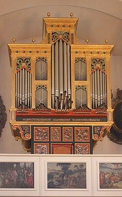 Hannover, Neustädter Hof- und Stadtkirche St. Johannis, die Orgel.JPG