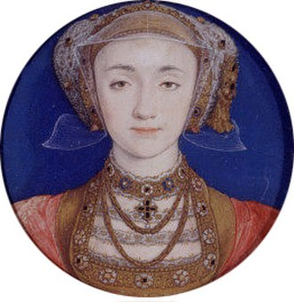 Elizabeth Seymour, Lady Cromwell - Portrait Miniature of Anne of Cleves, Hans Holbein the Younger