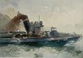 Hans von Bartels - Torpedoboot beim Angriff, Aquarell, Kiel 1895.png