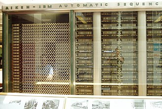 Harvard Mark I - The left end consisted of electromechanical computing components