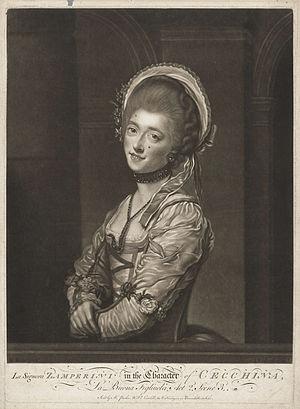La buona figliuola - Signora Zamperini in the character of Cecchina, from La buona figliuola, 1769