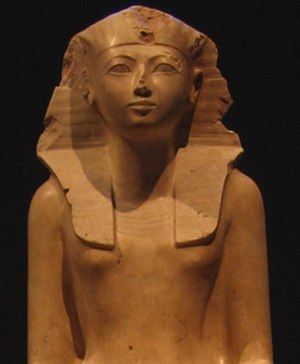 Women's rights - Statue of the female pharaoh Hatshepsut on display at the Metropolitan Museum of Art