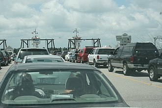 Hatteras, North Carolina - Image: Hatteras Ferry Lineto Ocracoke