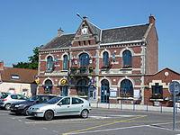 Haveluy (Nord, Fr) mairie et PTT.JPG