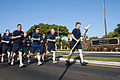 Hawaii-based U.S. Navy chief petty officers (CPO) participate in the CPO Deckplate Leadership Run April 1, 2012, at Joint Base Pearl Harbor-Hickam, Hawaii 120401-N-WP746-576.jpg