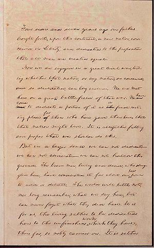 The Hay Copy, with Lincoln's handwritten corre...
