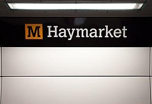 Margaret Calvert - Image: Haymarket Metro station, 20 September 2010 (6)