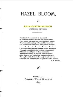 Julia Carter Aldrich - Hazel Bloom