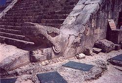 Head of serpent column
