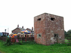 Scarisbrick - World War II pillbox at Heatons Bridge.
