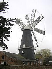 8-flüglige Turmgaleriewindmühle Heckington, Lincolnshire, von 1830