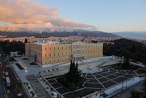The Hellenic Parliament building in Athens.
