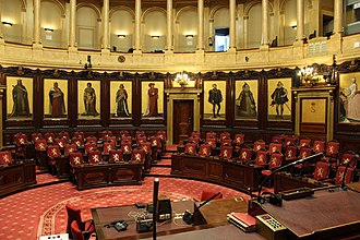 Senate (Belgium) - Image: Hemicycle of the belgian senat (2)