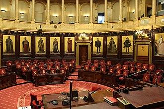 Senate (Belgium) - Image: Hemicycle of the belgian senat (2)