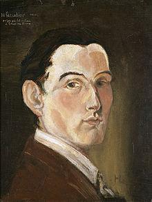 Henri gaudier brzeska wikivisually self portrait 1909 fandeluxe Gallery