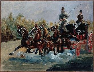 Four-in-hand (carriage) - Image: Henri de Toulouse Lautrec 024