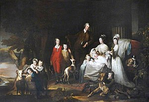 Henry Dawkins - The family of Henry Dawkins, c.1774, by Richard Brompton