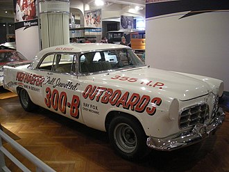 Production vehicle - 1956 Chrysler 300-B Stock car