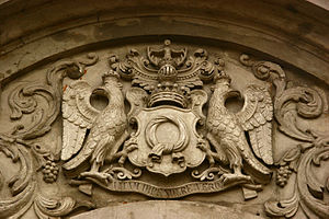 Edward Bernard Raczyński - Relief of the Raczyński family comital coat of arms