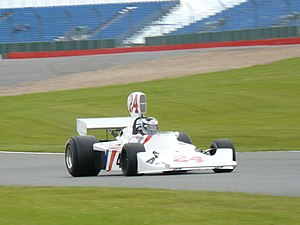 Hesketh Racing - James Hunt's Hesketh 308 being driven by his son, Freddie, in 2007.