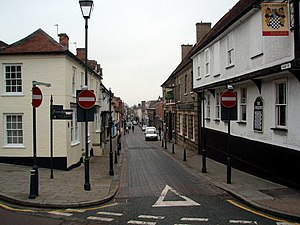 Royston, Hertfordshire - Looking north along High Street, Royston