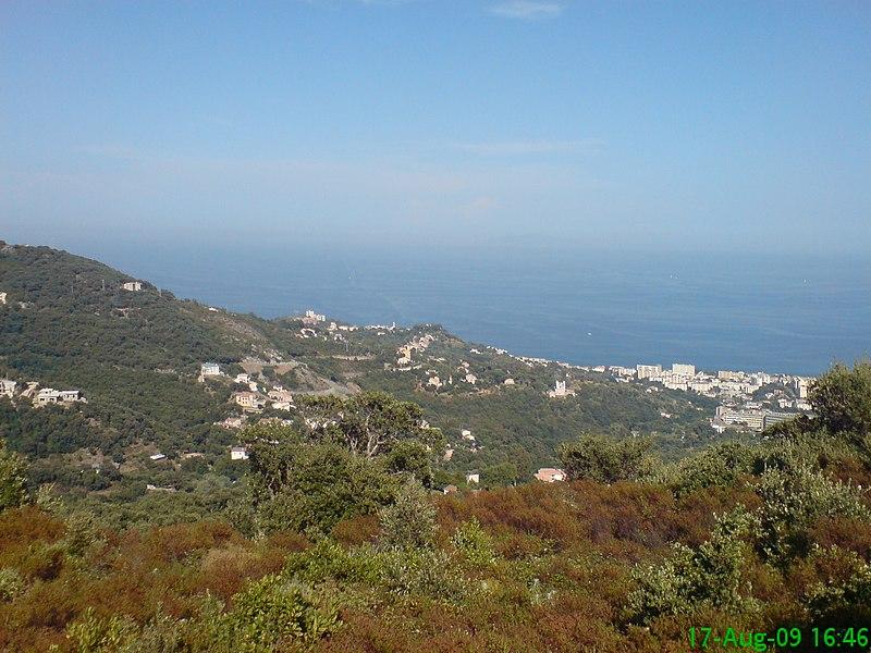 Hills over Bastia