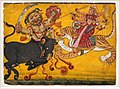 Himachal pradesh, durga uccide il demone bufalo, nurpur 1700-10 ca.jpg