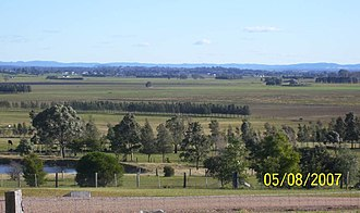 Hinton, New South Wales - Image: Hinton from Brandy Hill 002
