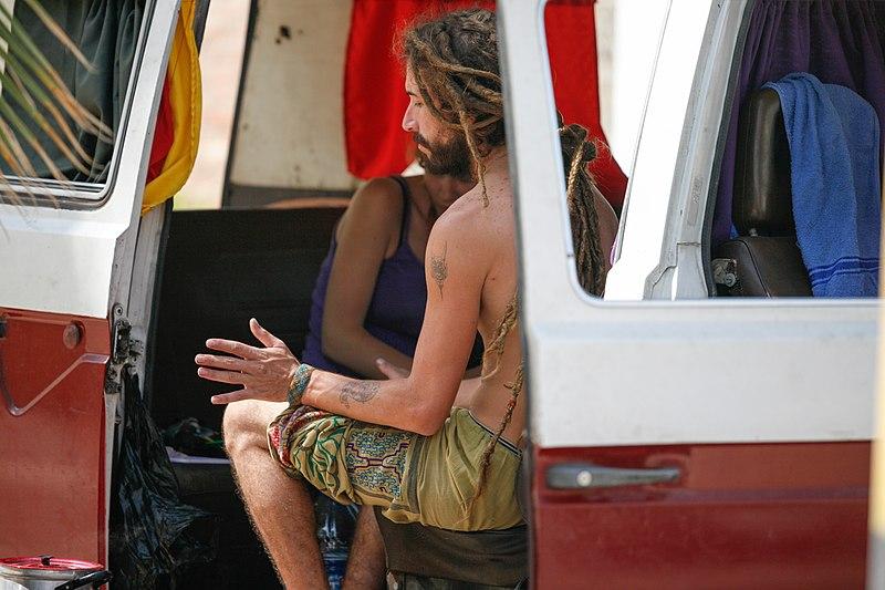 File:Hippies and the Kombi Van (6990033260).jpg