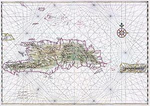 Isla de La Española en el siglo XVII