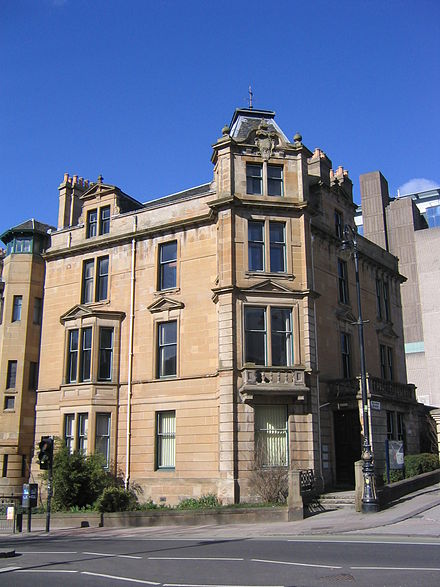 The School of History building occupies what were formerly townhouses on University Avenue. History department.jpg